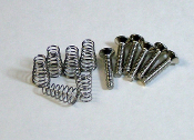 Strat Pickup Screws & Springs, Oval Head Chrome