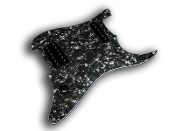 Prewired Strat Pickguard HS, Black Floyd Rose