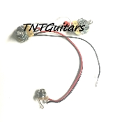 1V1T One Pickup Wiring Harness ~ CTS Precision Audio 1 Vol. 1 Tone Prewired