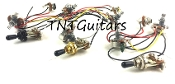 1V1T Prewired Harness, 2 Pickup Standard HH/HS, 3W Toggle Switch