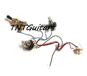 1V1T Prewired Harness, 2 Pickup Sealed HH/HS, 3W Toggle Switch