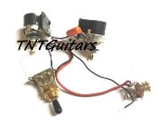 1V1T Prewired Harness, 2 Pickup CTS Push Pull, DUAL Coil Cut, Toggle Switch