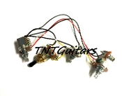 1V2T Prewired Harness, 2 Pickup PUSH PULL HH/HS, 3W Toggle Switch