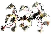 2V1T Prewired Harness, 2 Pickup PUSH PULL HH/HS, 3W Toggle Switch