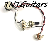 1V Prewired Harness, 2 Pickup Sealed HH/HS, 3W Toggle Switch