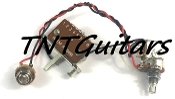1V Prewired Harness, 2 Pickup HH/HS, Push-Pull Pot, 3W Sealed Switch