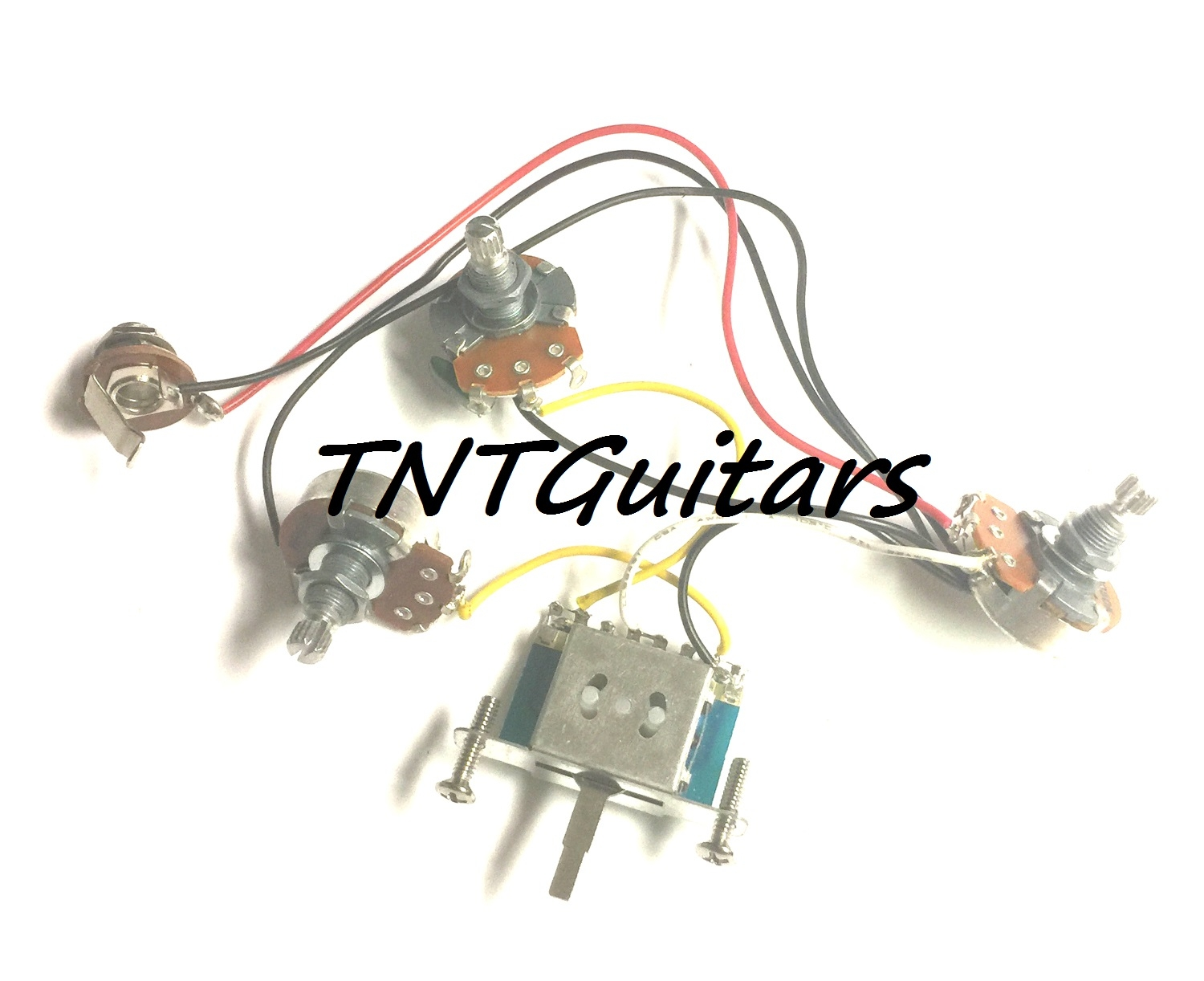 2v1t Prewired Harness 2 Pickup 3pot 2vol 1tone 3w Blade Switch Guitar Wiring Volume Tone 3way Jack