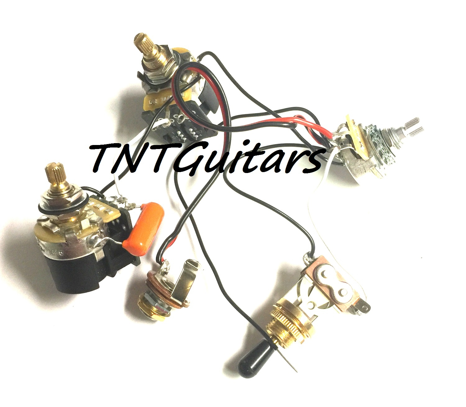 1v2t Prewired Harness 2 Pickup Cts Push Pull Dual Coil Cut Toggle Pot Wiring Diagram Switch