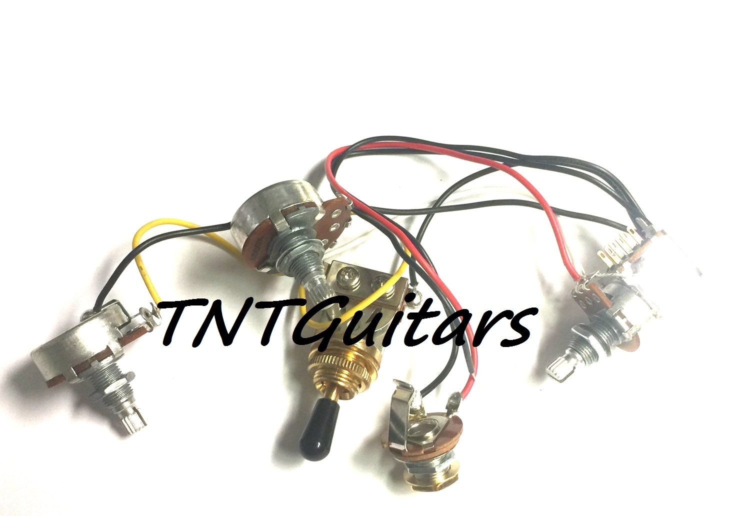 1v2t Prewired Harness 2 Pickup Push Pull Coil Cut With 3 Way Toggle Pushpull Pot For Tone Control Also Capacitors Are Not Typical Switch
