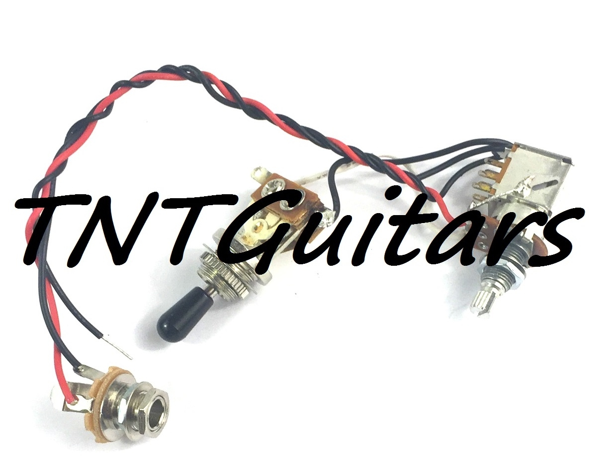 1v Prewired Harness 2 Pickup Push Pull Coil Cut With 3 Way Toggle Dragonfire Two Wiring 500k Chrome Great Switch
