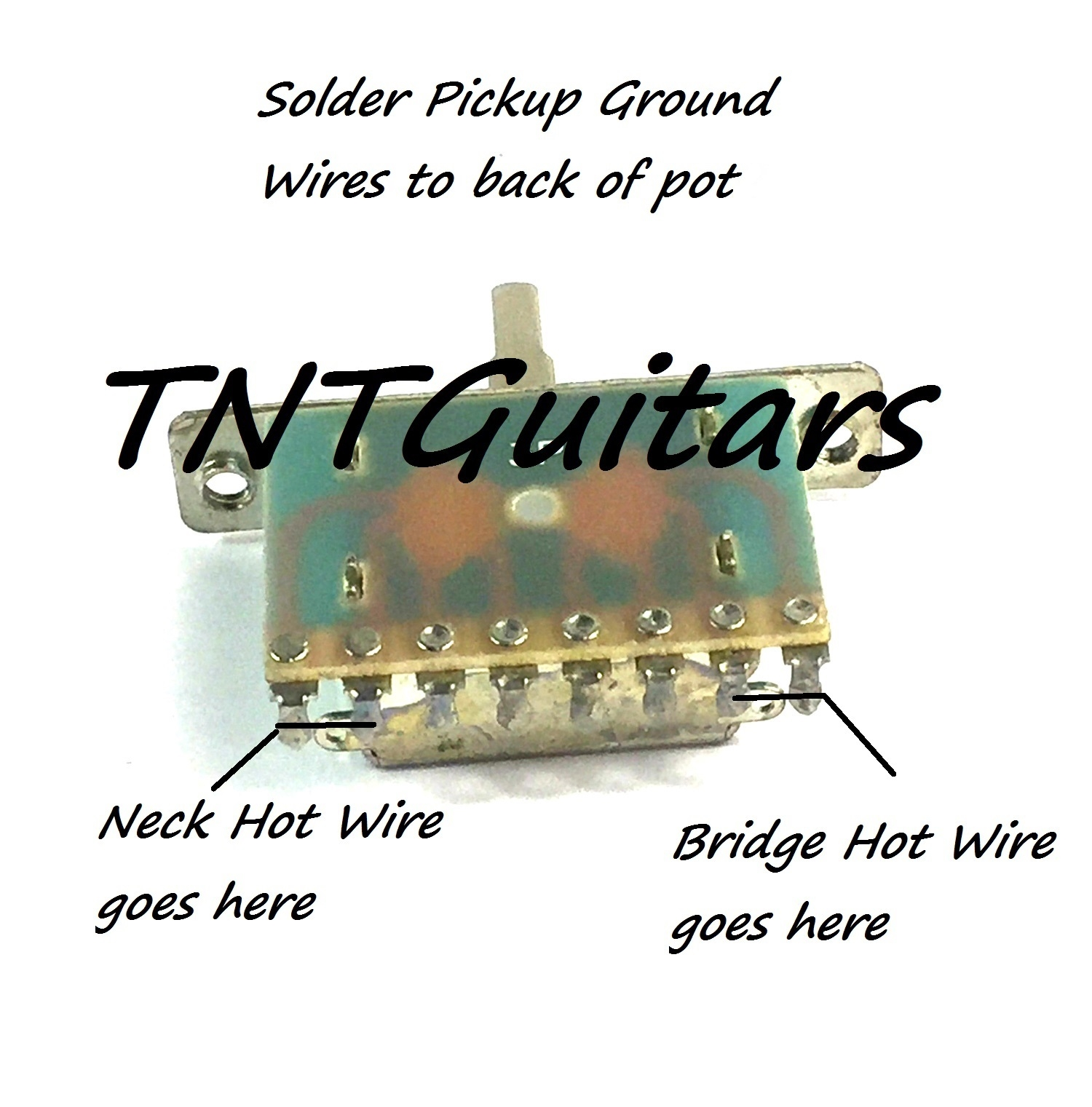 1v1t Prewired Harness 2 Pickup Standard 3 Way Blade Switch Guitar Wiring