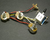 Strat Wiring Harness, LEFTY 5 Way 250K Blade Switch