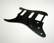Strat HSS Pickguard, Black Lefty - BLOWOUT