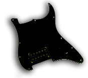 Prewired EVH Strat Pickguard, One Humbucker
