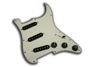 Prewired Strat Pickguard SSS, Aged White