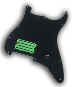 Prewired One Hum Pickguard, Quad Rail