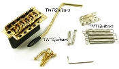 Strat Tremolo System, Wilkinson 5+1 USA Bridge WV6SB, Black Chrome Gold