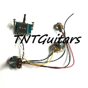 1V1T Prewired Harness, 2 Pickup Standard HH/HS, 3W Blade Switch