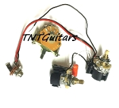 1V1T Prewired Harness, 2 Pickup CTS Push Pull, DUAL Coil Cut