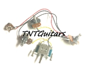 1V2T Prewired Harness, 2 Pickup, 3Pot, 1Vol+2Tone, 3WBladeSwitch
