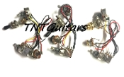1V1T Prewired Harness, 2 Pickup PUSH PULL HH/HS, 3W Toggle Switch