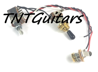 1V Prewired Harness, 2 Pickup PUSH PULL HH/HS, 3W Toggle Switch