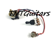 1V Prewired Harness, 2 Pickup CTS Push Pull, 3 Way Toggle Switch