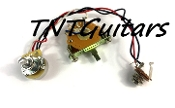 1V Prewired Harness, 2 Pickup CTS, 3W Fender Switch