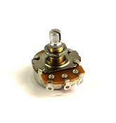 Control Pot ~ LARGE/Quarter, SHORT Shaft BRASS Bushing
