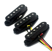 True Texas Strat Single Coil Pickups, AlNiCo 5, Positions/Colors