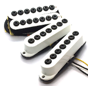 7 String Crusaders HSS Pickup Set, Humbucker-Single-Single Adjustable Hex Caps