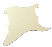 Blank Strat Pickguard, Aged White