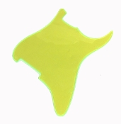 Blank Strat Pickguard, Create Your Own Custom Strat Guard ~ Fluorescent / Transparent Lime Green