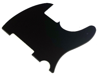 Blank Tele Pickguard, Telecaster Replacement, Create a Unique / Build Your Own Guard, Ready to Customize, Right & Left Handed / Lefty Available, Multiple Colors Available, Solid Matte Black (BBB) Black Black Black