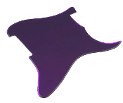 Blank Strat Pickguard, Completely Blank: No Pickup Holes, No Mounting / Control Holes ~ Create Your Own Unique Guard! Stratocaster Replacement, Customize As You Wish, Right & Left, Reflective Purple Mirror