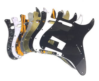 HS Humbucker Single Pickguard, Angled Humbucker SH Guard, Color Choice, Clearance Sale