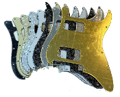 Double Humbucker (HH) Pickguard, 2 Hum Guard, Sale Color Rounded Corner, Choice Clearance Floyd Rose
