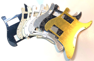 Double Humbucker (HH) Pickguard, 2 Hum Guard, Sale Color squared Corner, Choice Clearance