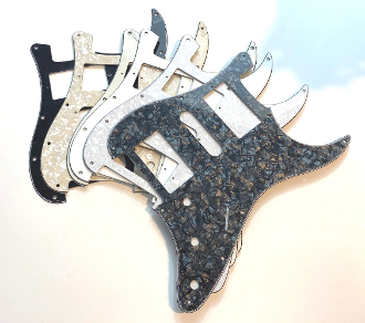 HSH Pickguard, Blade Switch, Strat Guard Squared Corner Style Choices Black BWB, Clearance Sale