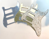 HSH Pickguard, FLOYD ROSE, FR Blade Switch, Strat Guard Squared Corner Style Choices Black BWB, Clearance Sale