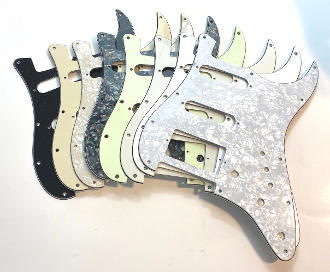 HSS Pickguard, Squared Style SSH Strat Guard, P123, Color Choice, VTT Pot Holes, Mini Switch , Standard Trem, Clearance Sale, MiniSwitch