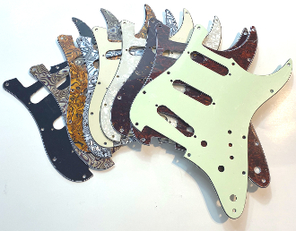SSS Pickguard, Strat Guard, Color & Control Choices Color Choice, Pot Holes, Blade Switch , Standard Trem, Clearance Sale, Mini Switch