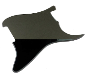 Blank Strat Pickguard, Completely Blank: No Pickup Holes, No Mounting / Control Holes ~ Create Your Own Unique Guard! Stratocaster Replacement, Customize As You Wish, Right & Left, Reflective Black Mirror