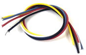 "Dragonfire Cloth Covered Vintage Style Wire, Guitar & Bass Electronics Wiring ~90"" Length 7.5ft Wire, Set of 5 Colors 18"" Each, 20 AWG Push Back Wires for Jacks, Switches, Pots & Controls, Heavy Duty for Pickguard Wiring & Harnesses"
